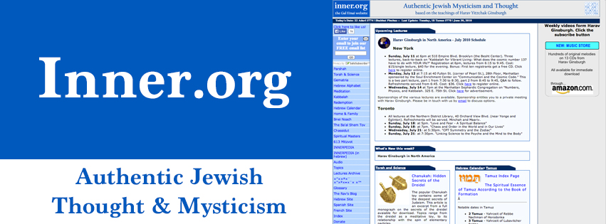 Offering a contemporary presentation of classical topics in Jewish Mystical thought as taken from the teachings of Rabbi Yitzchak Ginsburgh, a renowned master